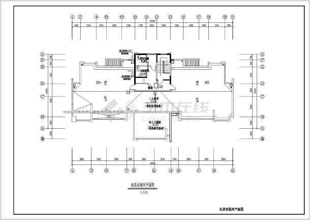 点击查看某高层住宅暖通设计cad图第1张大图