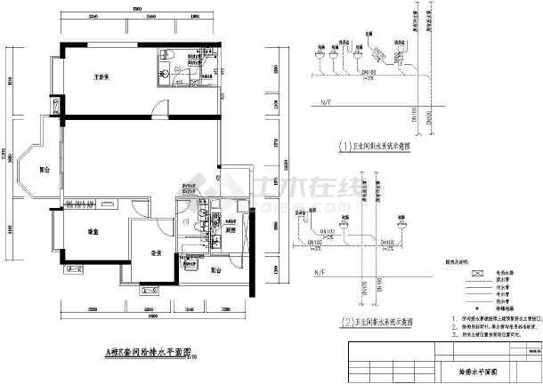 广场k型建筑电气设计cad图-图一