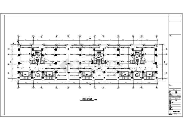 某小区高层商住楼电气部分设计cad图-图一