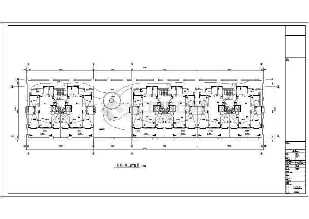 某小区高层商住楼电气部分设计cad图-图二