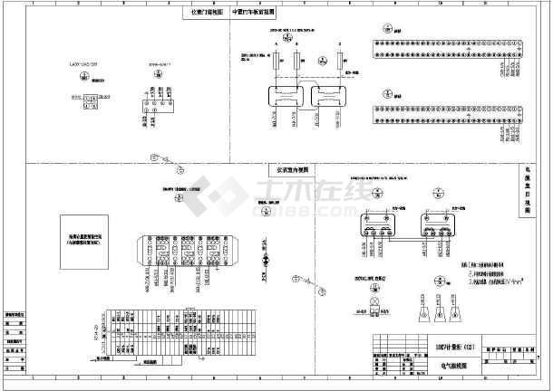 变电所10KV进线、计量柜、变压器柜原理图-图一