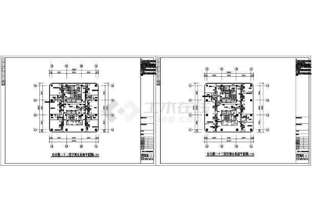 某建工大厦暖通设计cad图-图二