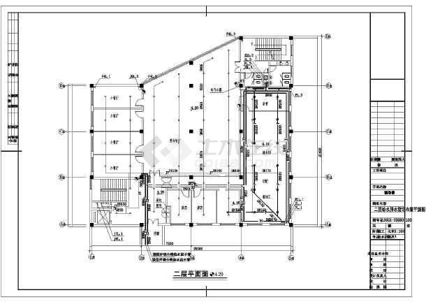 某辅助楼给排水设计cad图-图二