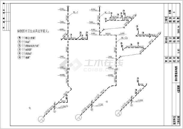 点击查看A型别墅给排水设计cad图第1张大图