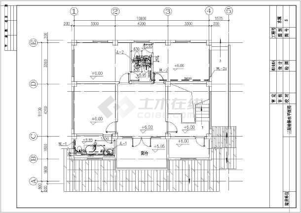 点击查看A型别墅给排水设计cad图第2张大图