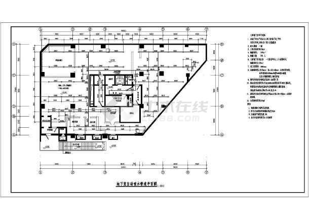 某大厦给排水设计cad图-图一