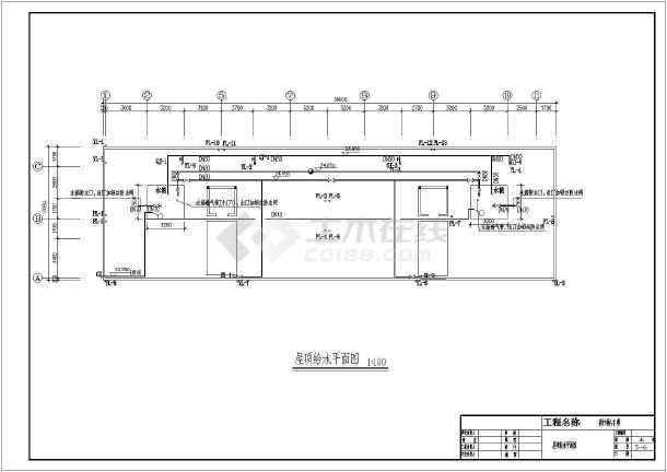 某商住楼给排水设计cad图-图二