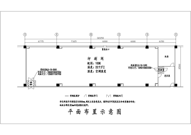 某十万级洁净厂房空调设计cad图图片1