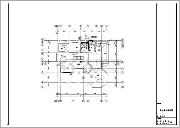 点击查看G型别墅给排水设计cad图第2张大图