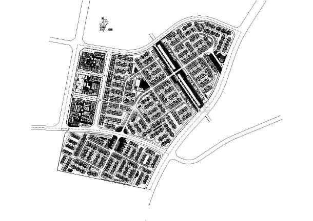 [都江堰]居住区园林景观绿化种植工程施工图-图一