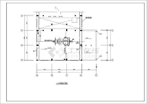 电厂汽机房给排水设计cad图-图一