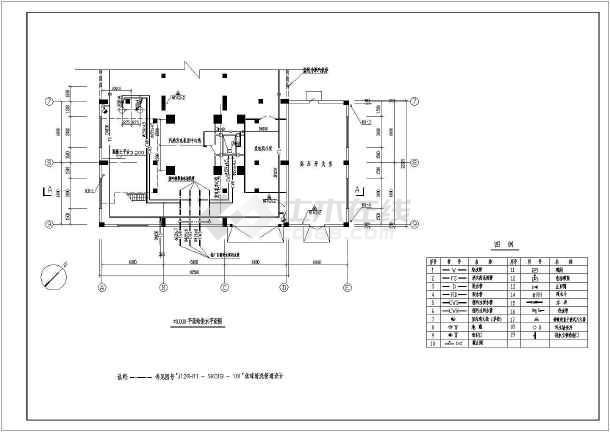 电厂汽机房给排水设计cad图-图二