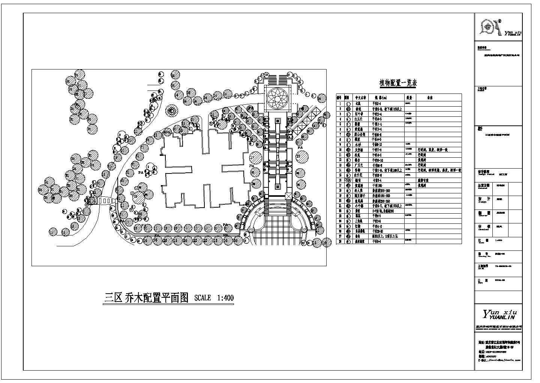 重庆高档小区园林景观工程施工图图片3