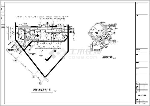 点击查看某商住楼给排水设计cad图第2张大图