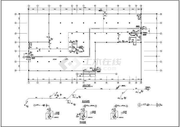 点击查看某地下车库给排水设计cad图第1张大图