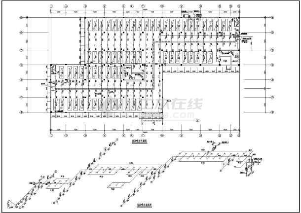 某地下车库给排水设计cad图-图二