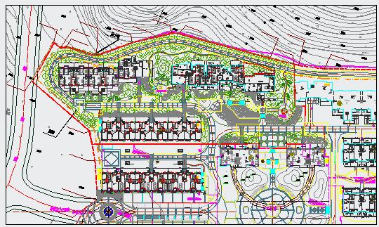 [南安]居住区三期组团绿地植物配置设计施工图图片1