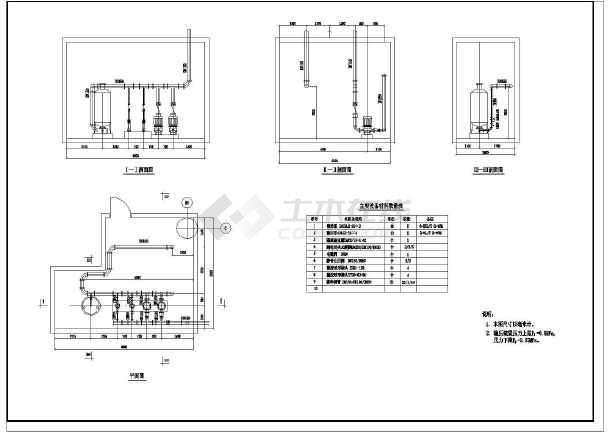 点击查看某地铁车站给排水初步设计cad图第1张大图