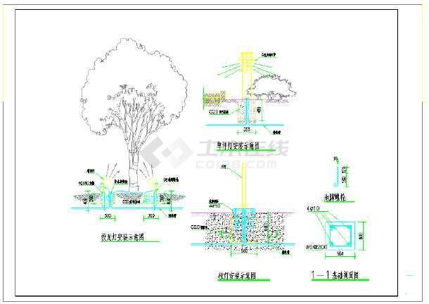 某地烈士纪念馆及室外电气设计施工图-图一