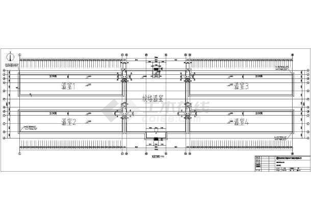 PC板温室日光温室全套施工设计图(含建筑、结构、电气、给排水专业)-图一