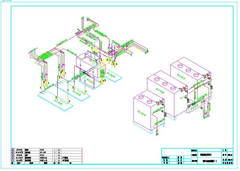 大型物流冷库制冷系统图纸图片3