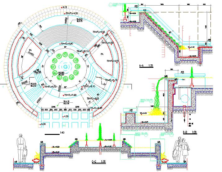 深圳小区一期园林景观工程施工图全套图片3