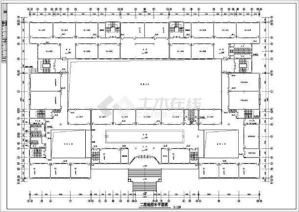 地上五层教学楼给排水施工图纸(5套图纸)-图二