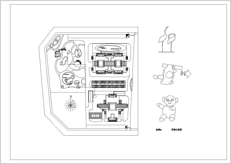 海南小区园林景观工程施工图全套图片2