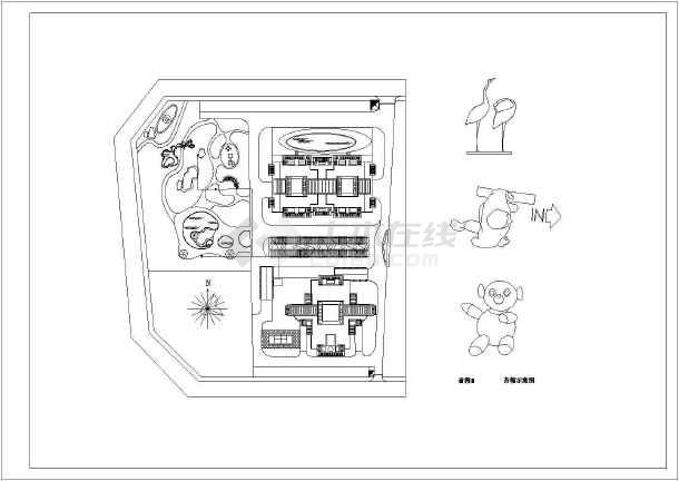 海南小区园林景观工程施工图全套-图二