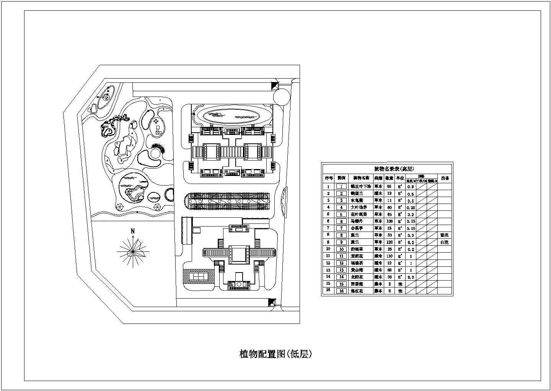 海南小区园林景观工程施工图全套图片3