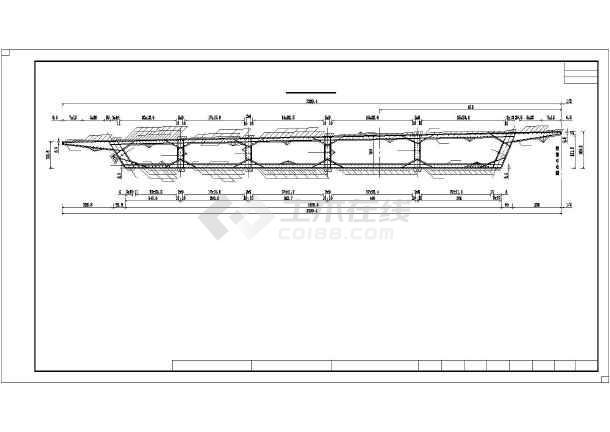点击查看68.45m异形箱梁梁体设计图49张(全预应力结构)第2张大图