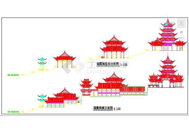 整理多套砖结构古塔施工CAD图纸-图二