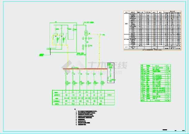 小燕子儿童公园规划设计CAD电气施工图-图一