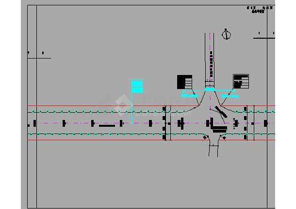双向四车道市政道路设计图198张(含交通照明绿化、给排水)-图一