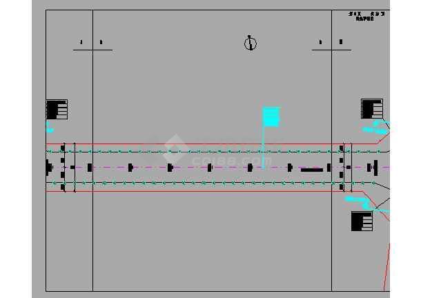 双向四车道市政道路设计图198张(含交通照明绿化、给排水)-图二