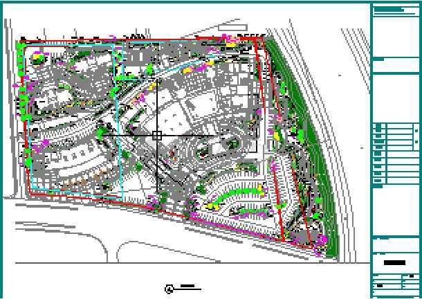 [宁波]豪华酒店室外环境园林景观种植设计施工图-图二