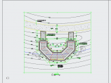 中式园林景观弯折连廊、长廊CAD详图图片1