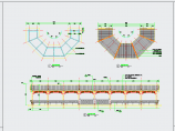 中式园林景观弯折连廊、长廊CAD详图图片2