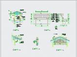 中式园林景观弯折连廊、长廊CAD详图图片3