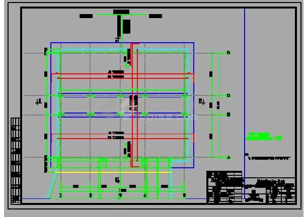 点击查看轨道交通地铁工程双柱三跨现浇箱型结构地下三层中间风井设计图,93张CAD第1张大图