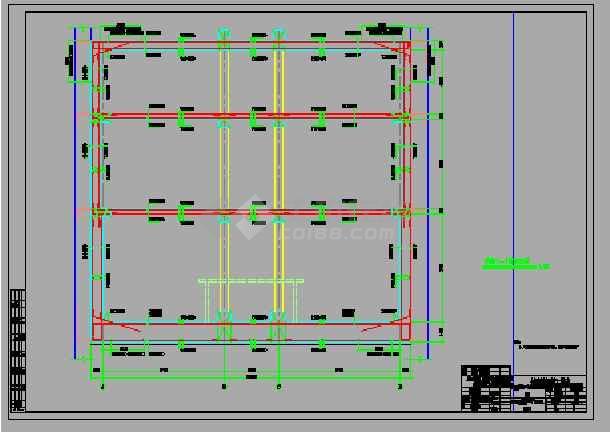 点击查看轨道交通地铁工程双柱三跨现浇箱型结构地下三层中间风井设计图,93张CAD第2张大图