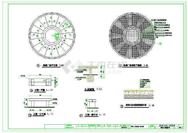 点击查看多种园林景观小品CAD图纸(含假山栈台)第2张大图
