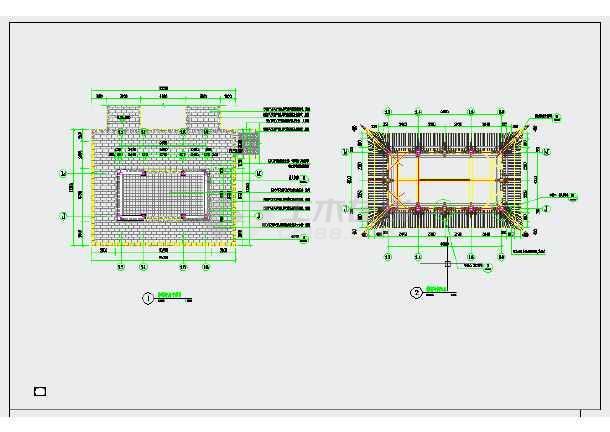 中式园林水榭CAD施工详图-图一