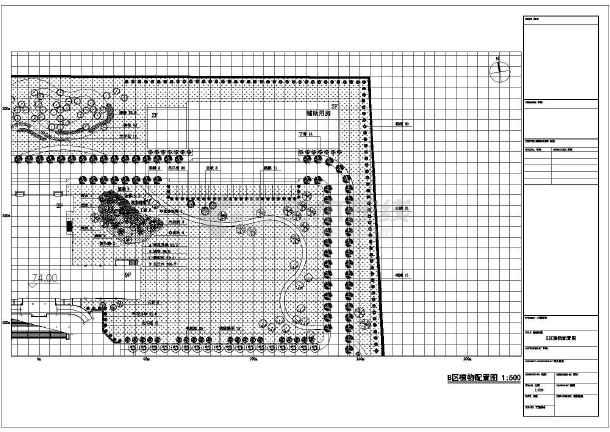 [河北]校园园林景观绿化工程施工图-图一