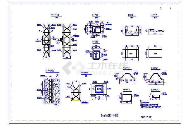 高速公路隧道衬砌结构标准设计图(复合式衬砌格栅钢架)-图二