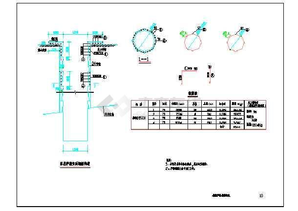 点击查看钢结构天桥设计cad图第1张大图