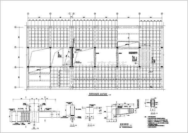 结构加固改造平面图相关CAD设计图纸-图二