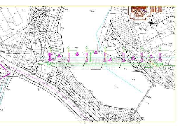 [江苏]桥面连续6×20m后张法预应力空心板简支梁结构跨河桥设计图(附计算书)-图一