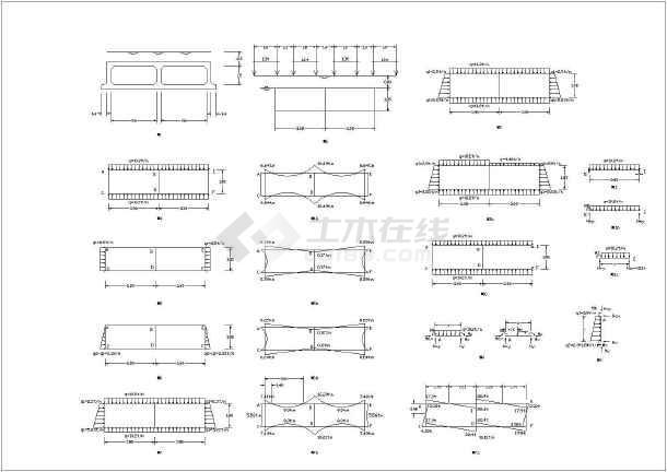 全套6米双孔箱涵设计详图及涵身结构图-图一
