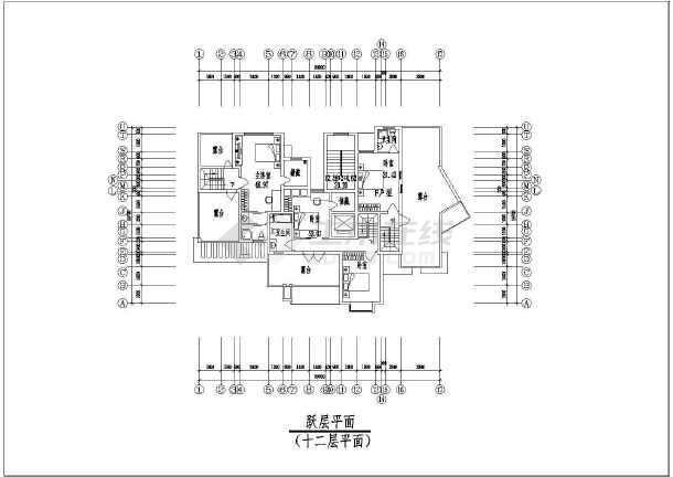 点击查看一套点式小高层住宅楼建筑施工图第2张大图